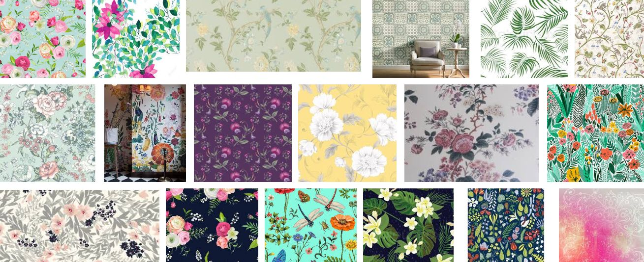 Botanical+Pattern+Floral+Wallpaper+kenya
