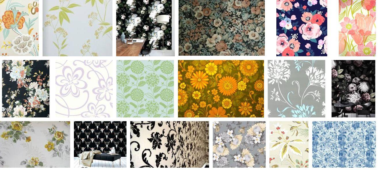 Floral+Print+Wallpaper