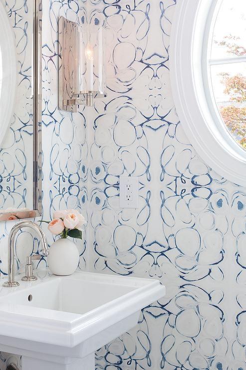 Eclectic Bathroom Design Pattern Wallpapers