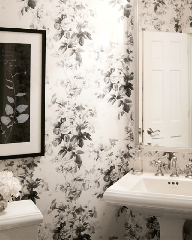 Floral Wallpaper For Bathroom Walls