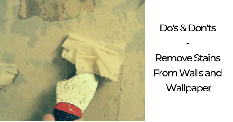 remove stains from walls and wallpaper kenya